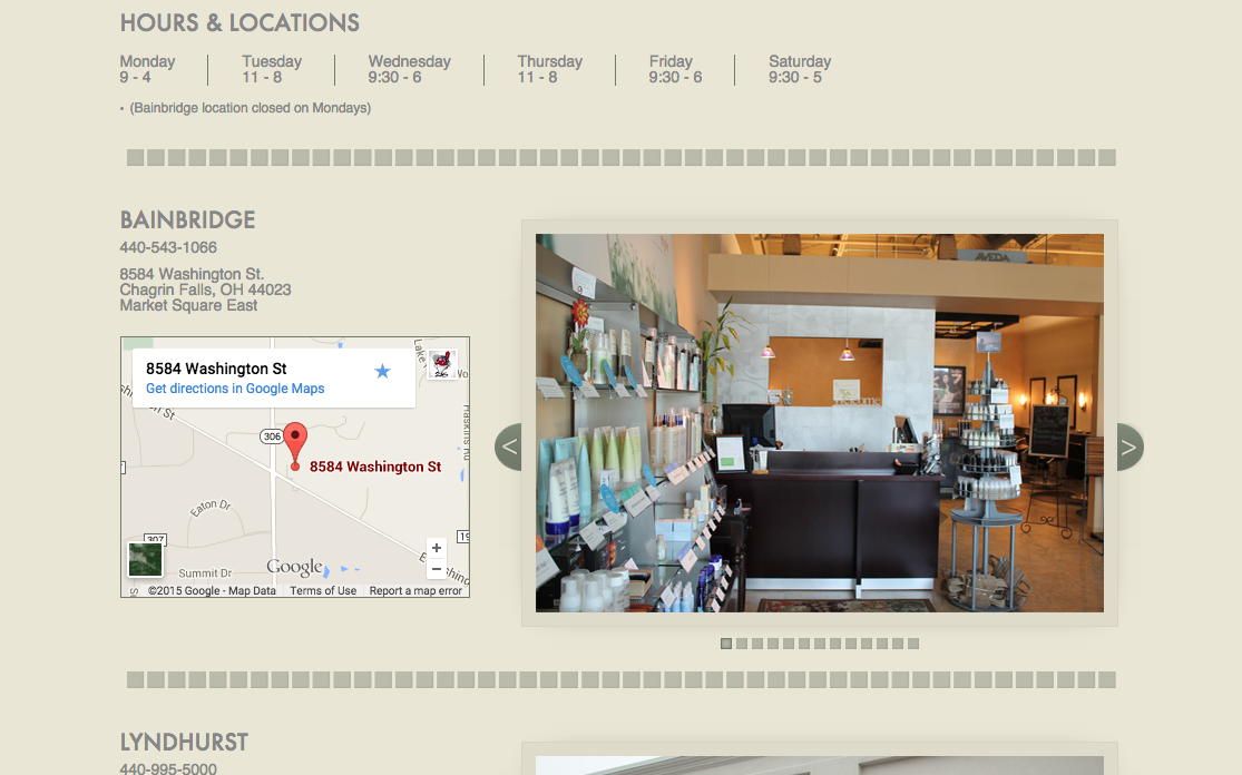 Laura Lee Salon Website Preview Image 3