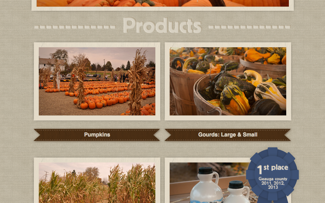Mulberry Corners Pumpkins Website Preview Image 5