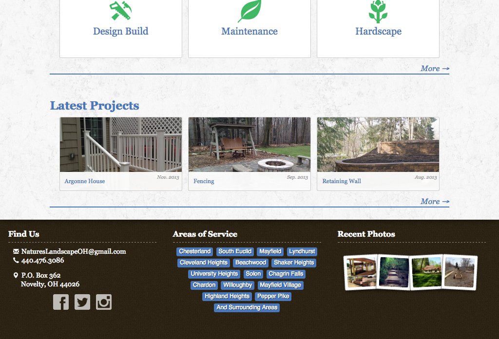 Natures Website Preview Image 2